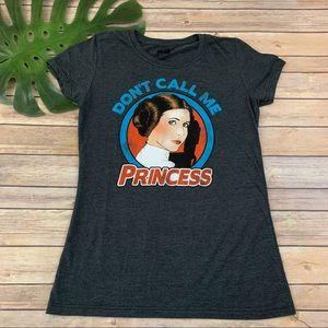 Star Wars dark gray 'Don't Call Me Princess'  tee